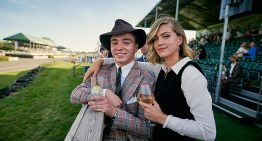 Rocco Ritchie poses with his glamorous pal at Goodwood Revival